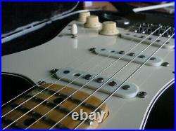 1973 Fender Stratocaster Black over Oly White U Neck 2JAN73 Neck Date 7lbs 12oz