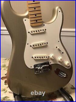 60th Anniversary MIM Fender Stratocaster Shoreline Gold Maple Neck