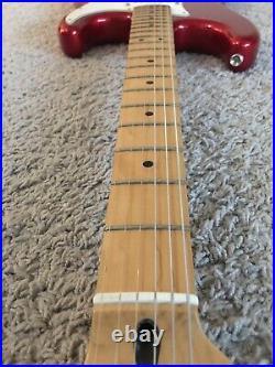 Fender Standard Stratocaster 2006 MIM Candy Apple Red Maple Neck Guitar