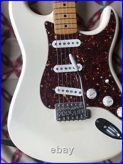 Fender Standard Stratocaster Olympic White Strat Maple Neck Guitar