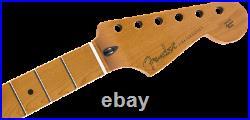 Genuine Fender ROASTED MAPLE Strat/Stratocaster Neck, Jumbo Frets/12/Flat Oval