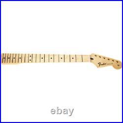 Genuine Fender Standard Series Stratocaster Neck, 21 Medium Jumbo Frets, Maple