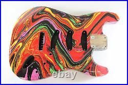 Multicolor DNA Strat Stratocaster body Fits Fender neck P300