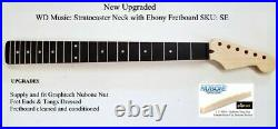 New Fender Licenced WD Music Stratocaster Strat Neck with Ebony Fretboard