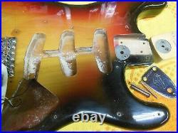 Original1974 Fender Stratocaster Sunburst Strat Maple Neck 74