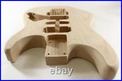 Unfinished Alder Green Meanie Body- Fits Fender (tm) Strat Stratocaster Necks